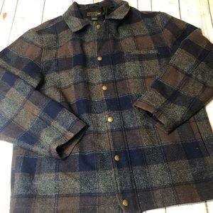 Pendleton Wool Plaid Coat Size XL